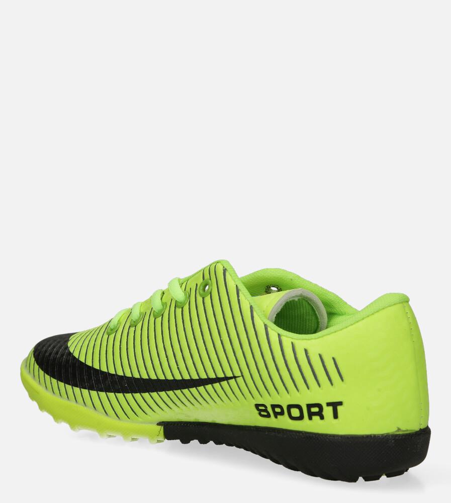 Zielone buty sportowe orliki sznurowane Casu 20M2/M sezon Całoroczny