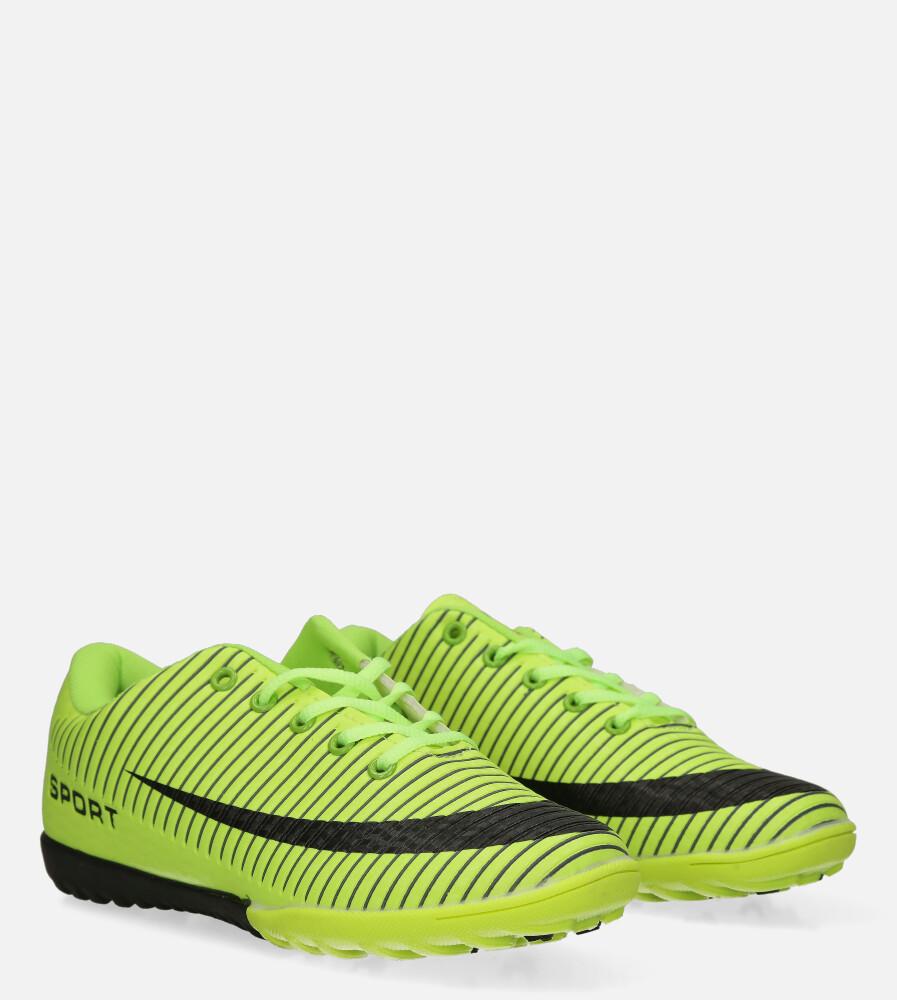 Zielone buty sportowe orliki sznurowane Casu 20M2/M kolor czarny, seledynowy