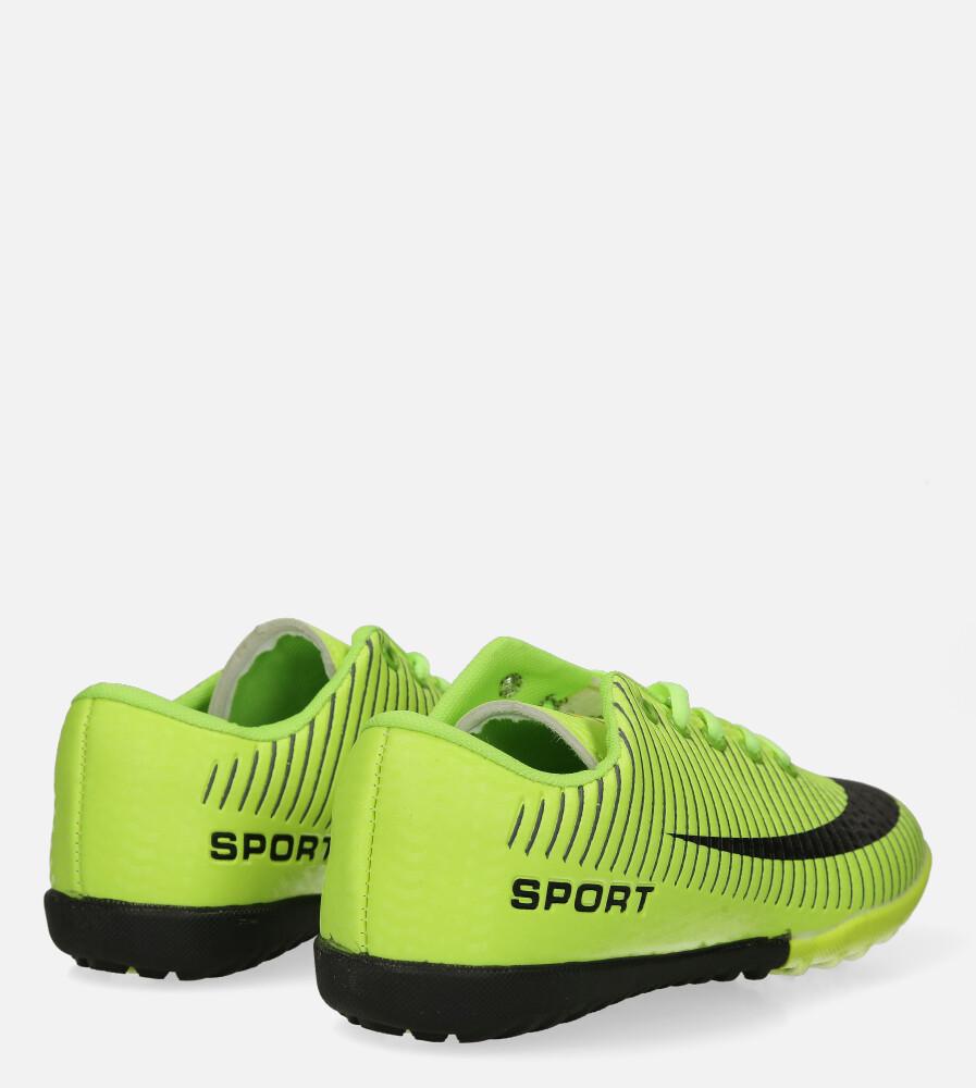 Zielone buty sportowe orliki sznurowane Casu 20M2/M wysokosc_platformy 1.5 cm