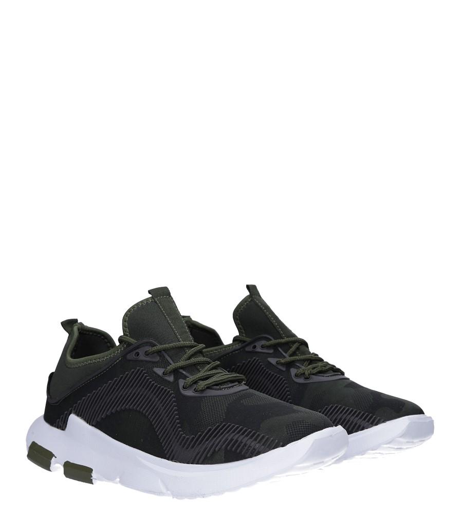 Zielone buty sportowe sznurowane Casu LF21-3 kolor ciemny zielony