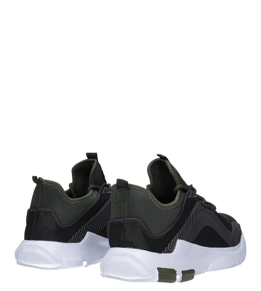Zielone buty sportowe sznurowane Casu LF21-3 wysokosc_platformy 2 cm