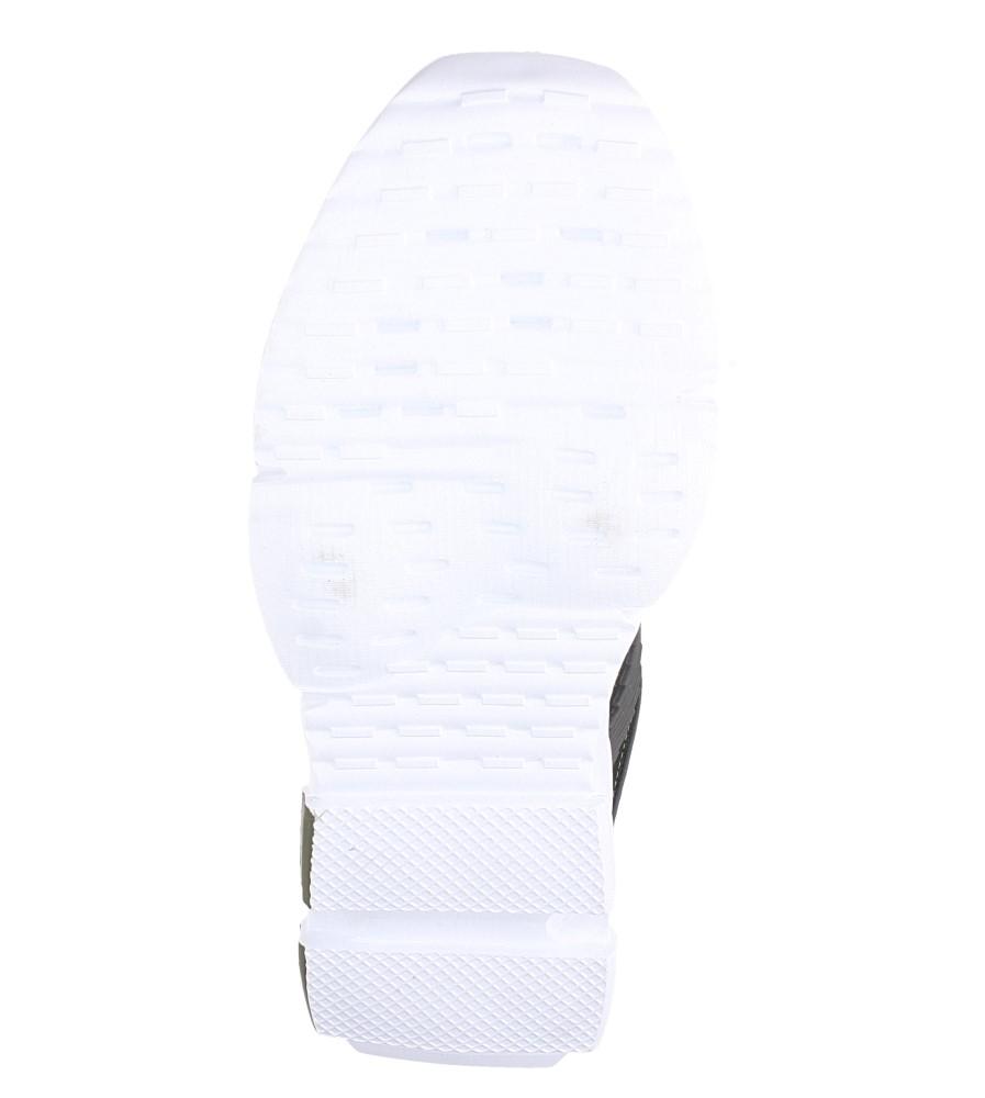 Zielone buty sportowe sznurowane Casu LF21-3 wierzch materiał/skóra ekologiczna