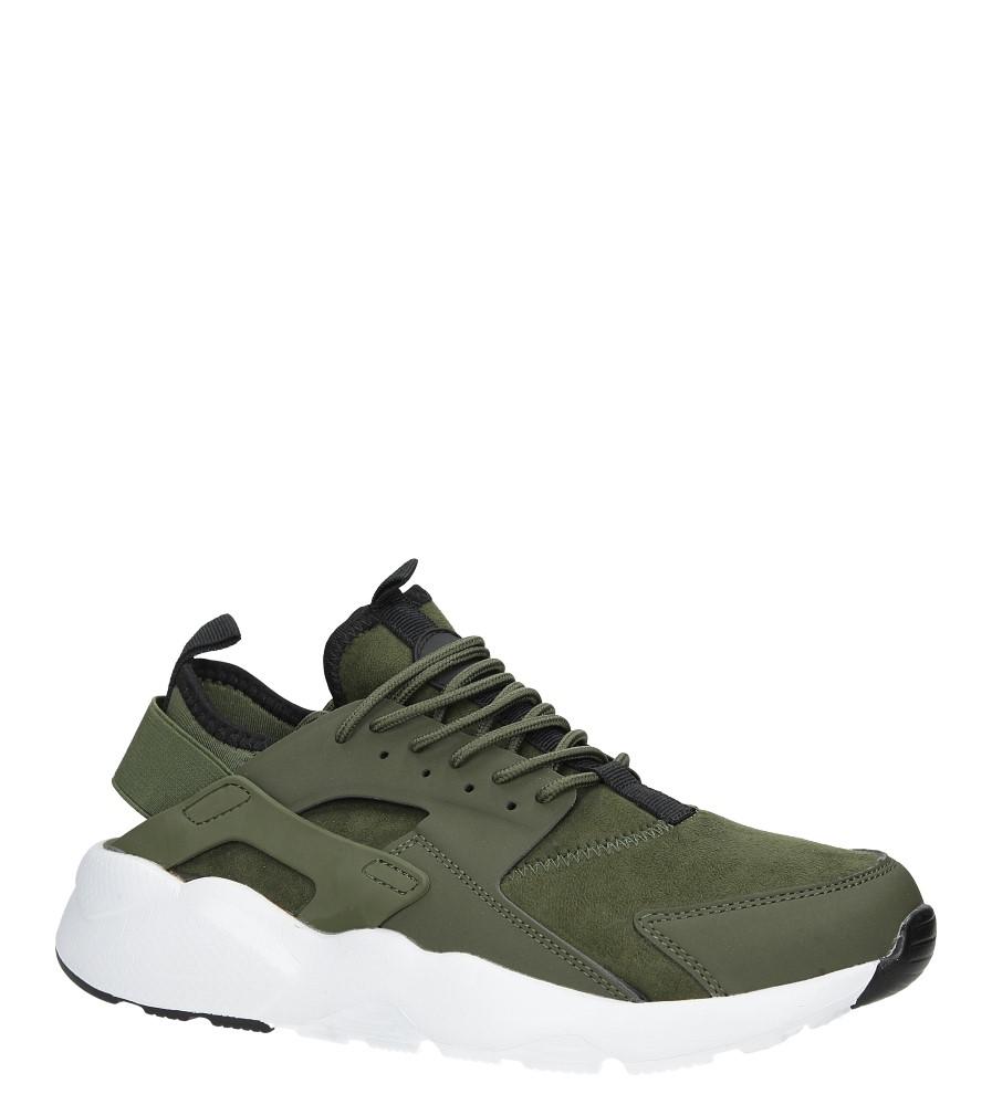 Zielone buty sportowe sznurowane moro Casu U8102-6 producent Casu