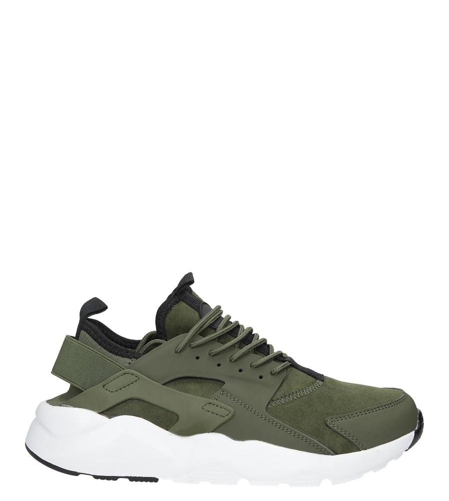 Zielone buty sportowe sznurowane moro Casu U8102-6