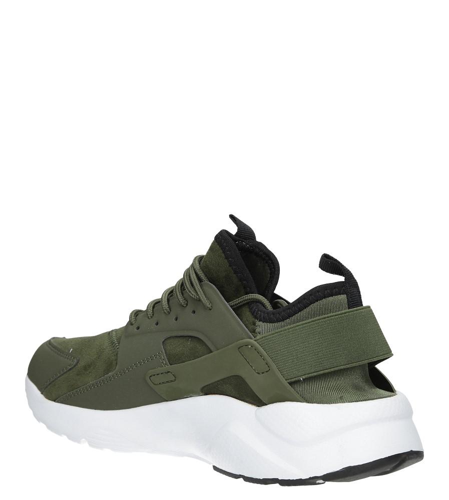 Zielone buty sportowe sznurowane moro Casu U8102-6 sezon Całoroczny