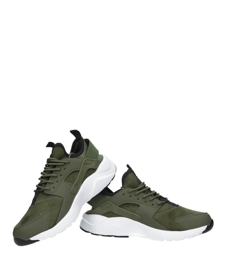 Zielone buty sportowe sznurowane moro Casu U8102-6 wysokosc_obcasa 4 cm