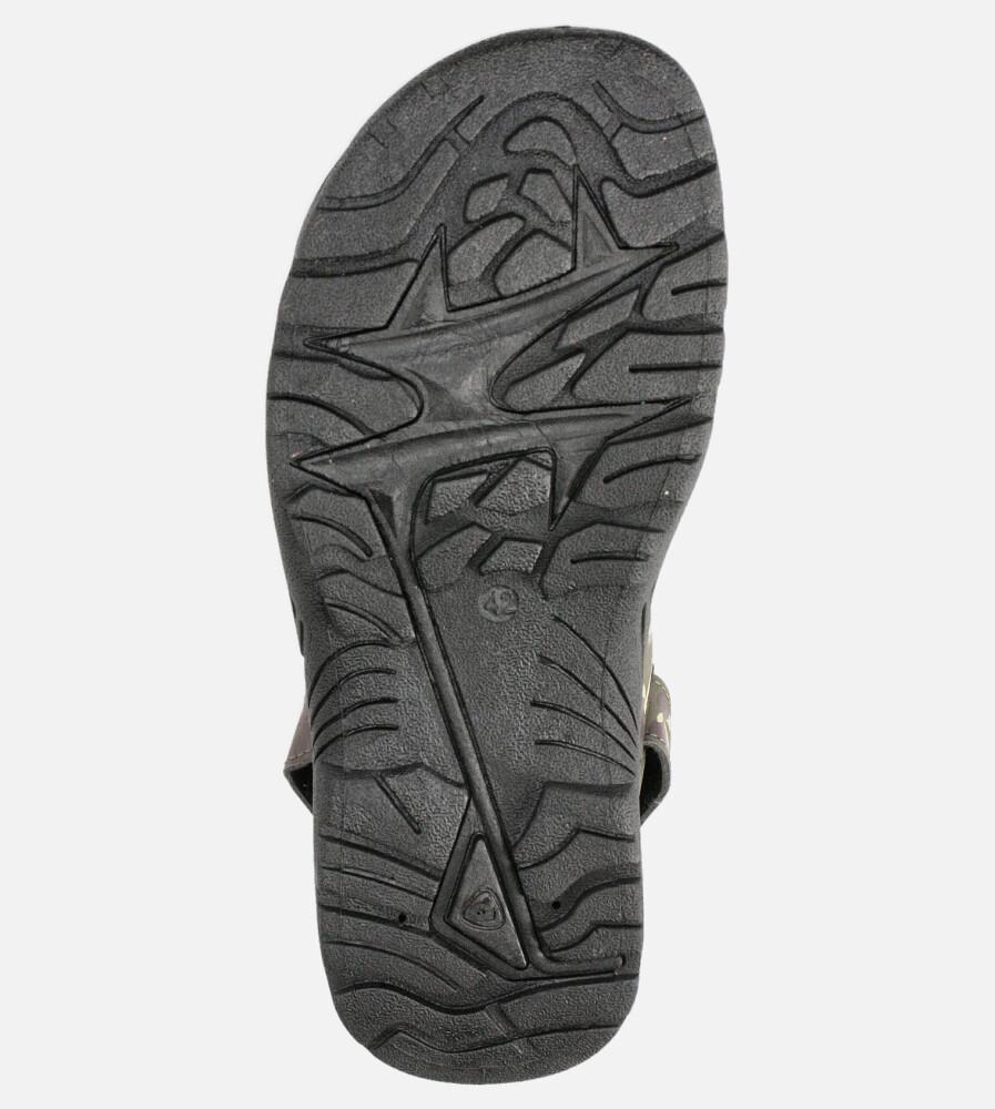 Zielone sandały moro na rzepy Casu 103-B wysokosc_obcasa 3 cm