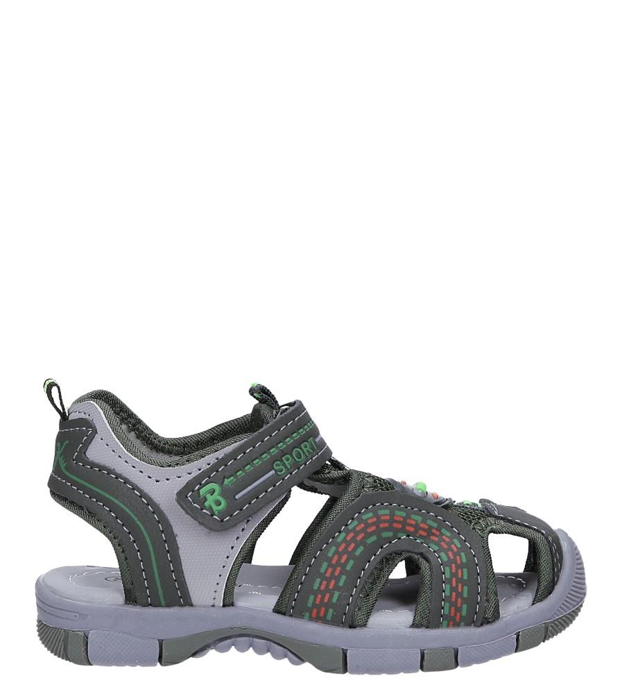 Zielone sandały na rzep Casu 58009