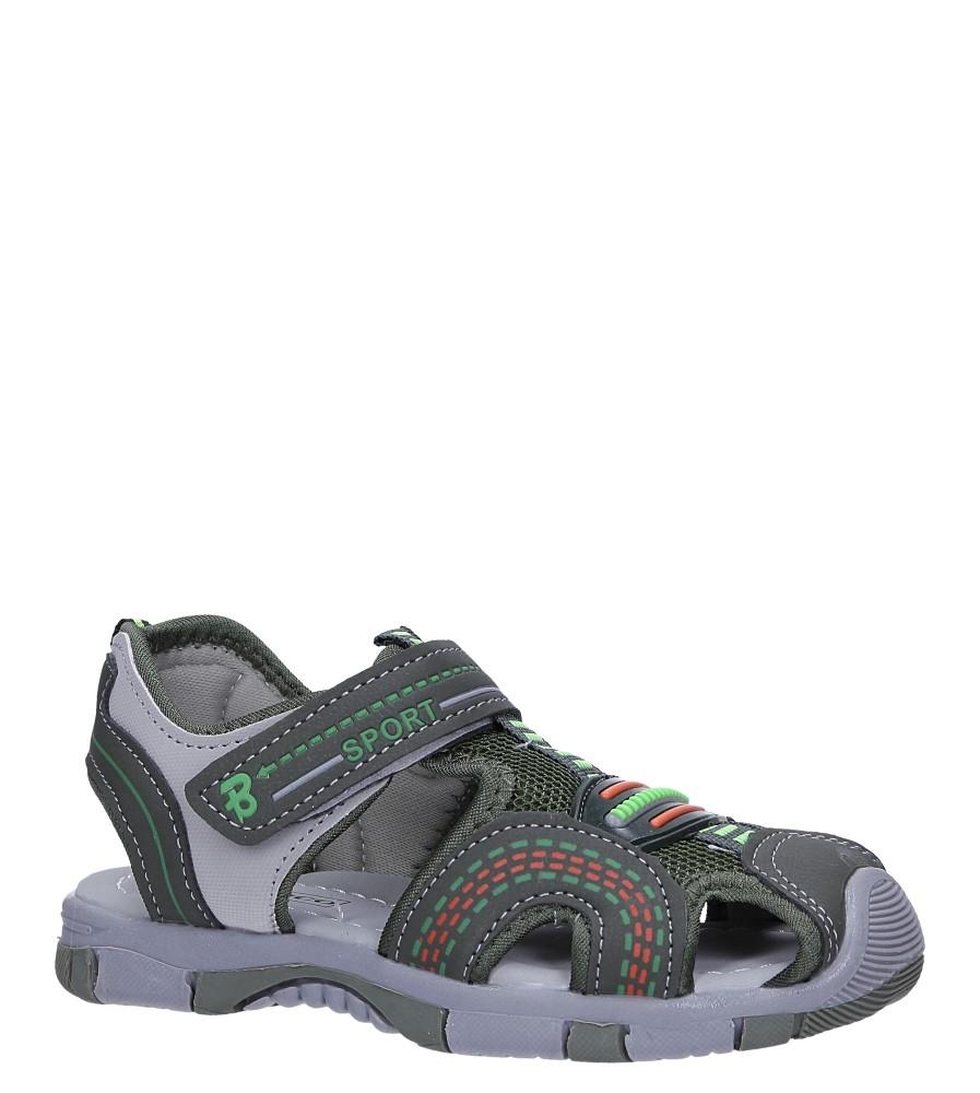 Zielone sandały na rzep Casu 58010 producent Casu