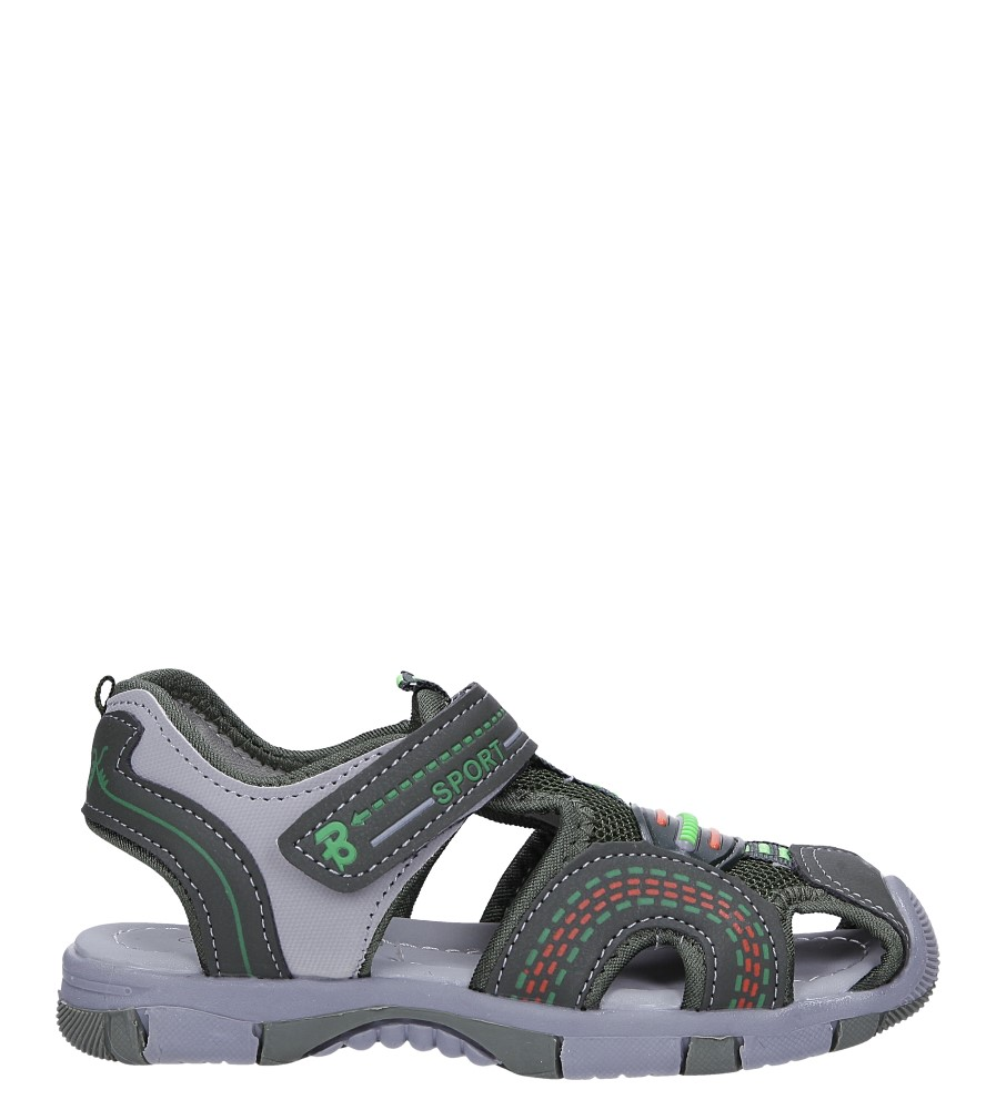 Zielone sandały na rzep Casu 58010