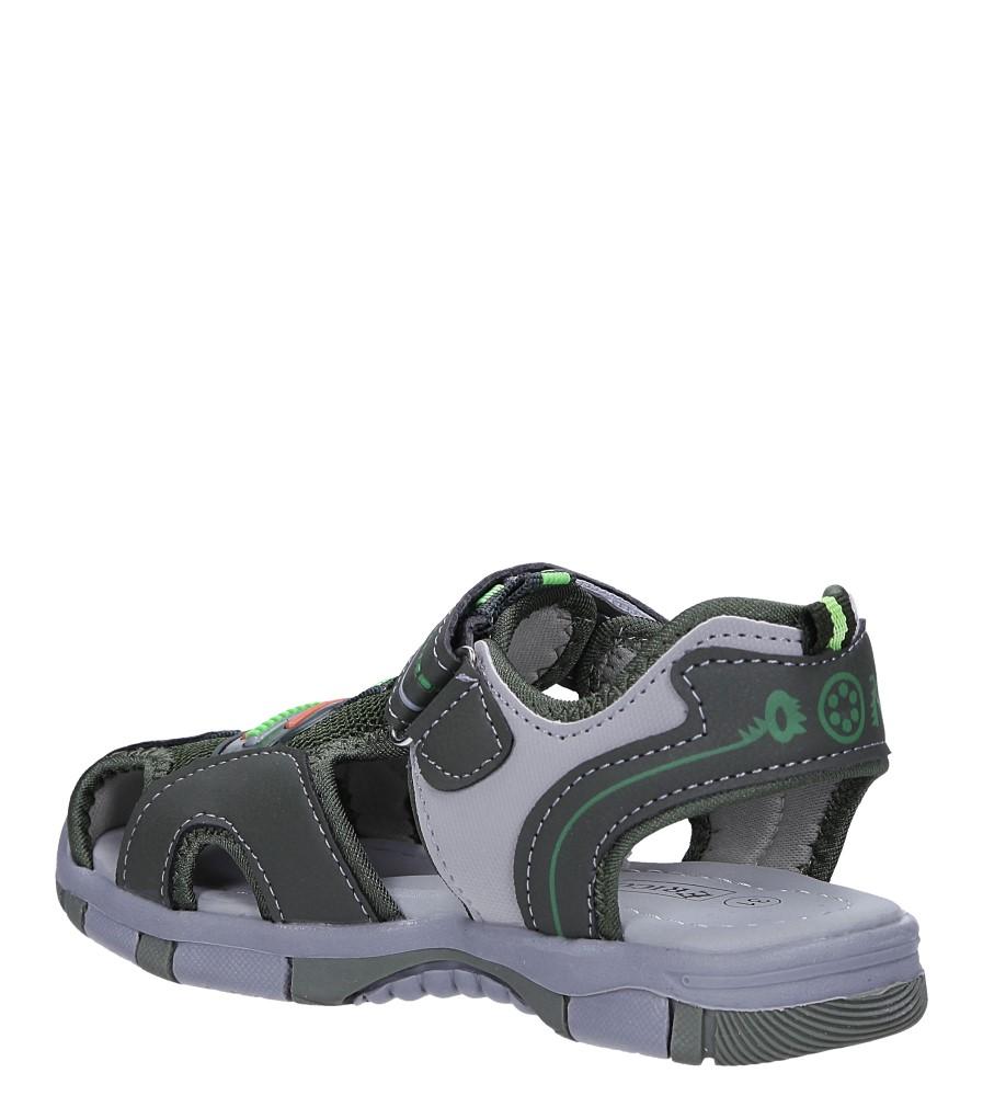 Zielone sandały na rzep Casu 58010 sezon Lato