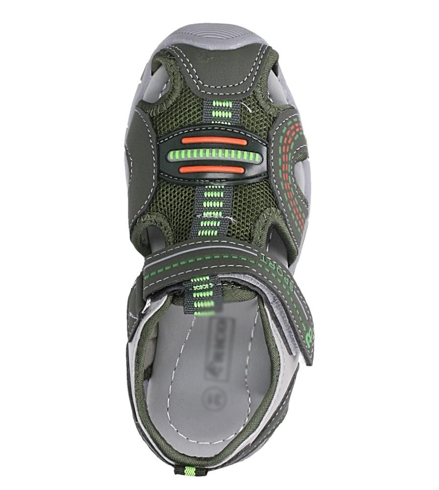 Zielone sandały na rzep Casu 58010 kolor zielony