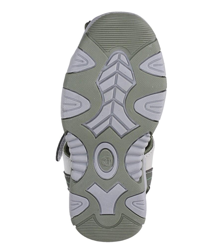 Zielone sandały na rzep Casu 58010 wysokosc_platformy 1 cm