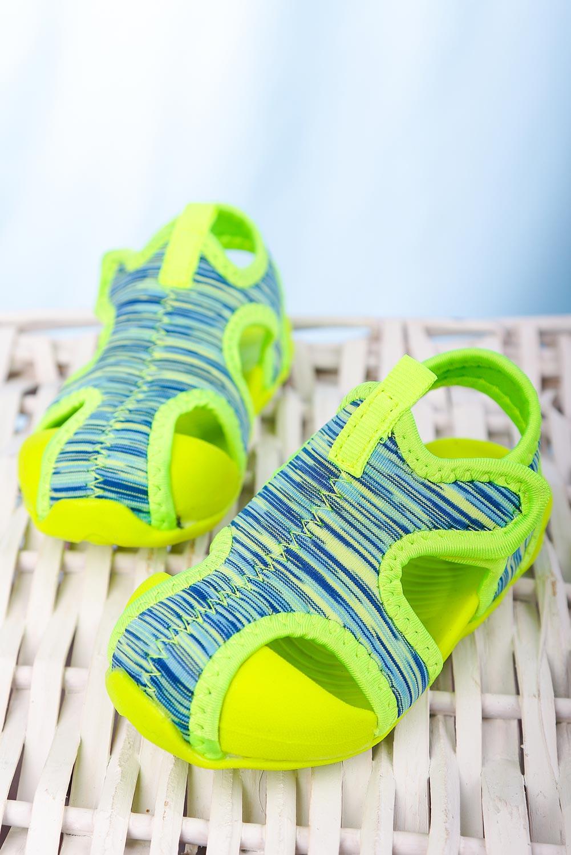 Zielone sandały na rzep Casu LA108 seledynowy