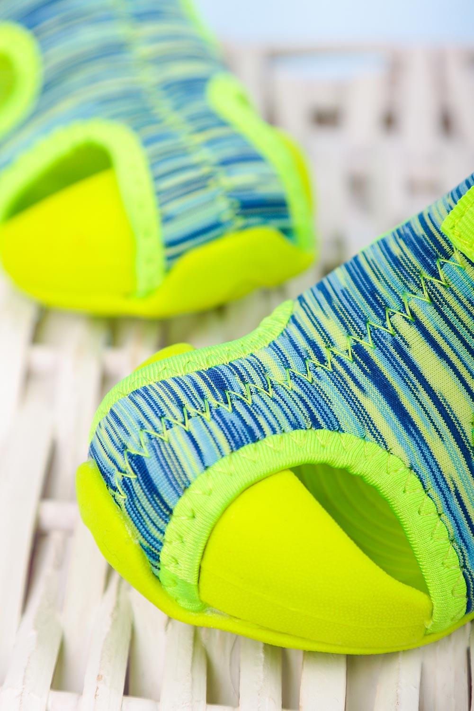 Zielone sandały na rzep Casu LA109