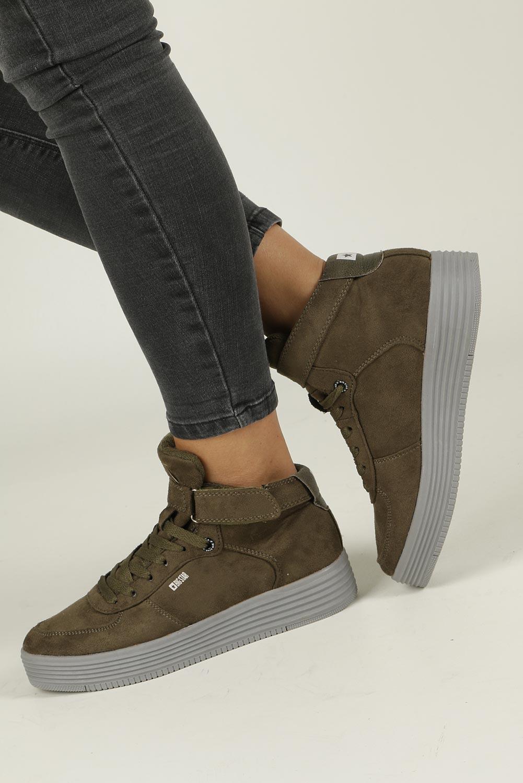 Zielone sneakersy trampki sznurowane Big Star BB274648