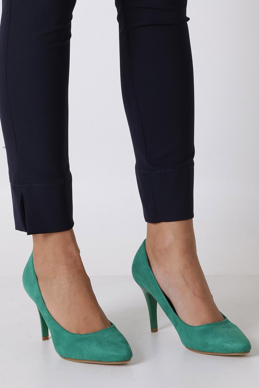 Zielone szpilki czółenka Sergio Leone 1399