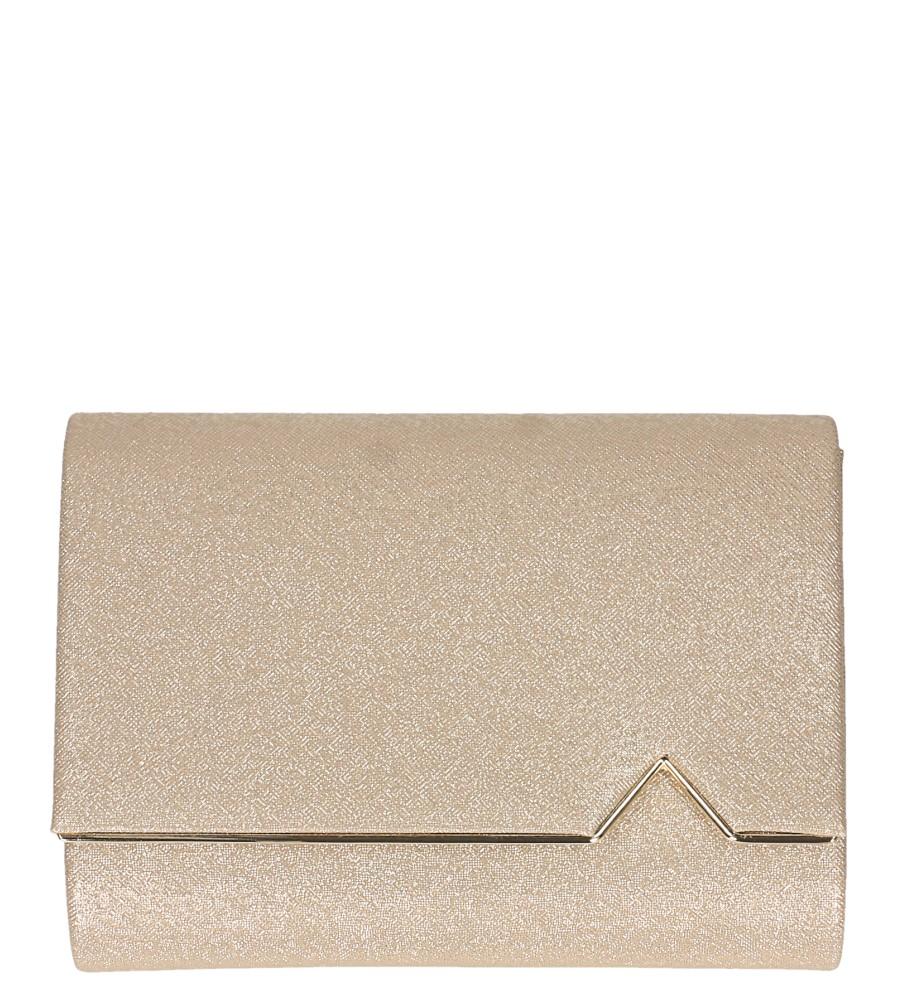 Złota torebka wizytowa błyszcząca na łańcuszku Casu AD-97