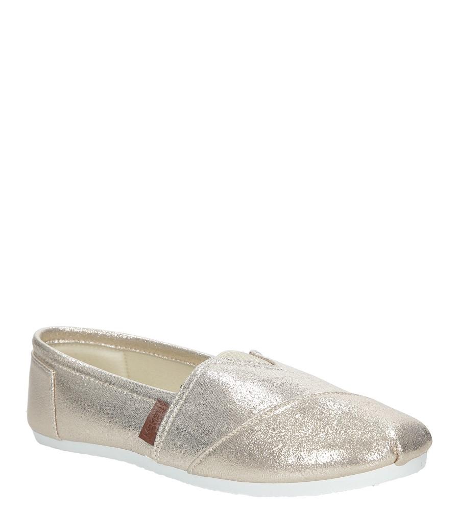 Złote buty tomsy błyszczące Mckey DTN177/17GO