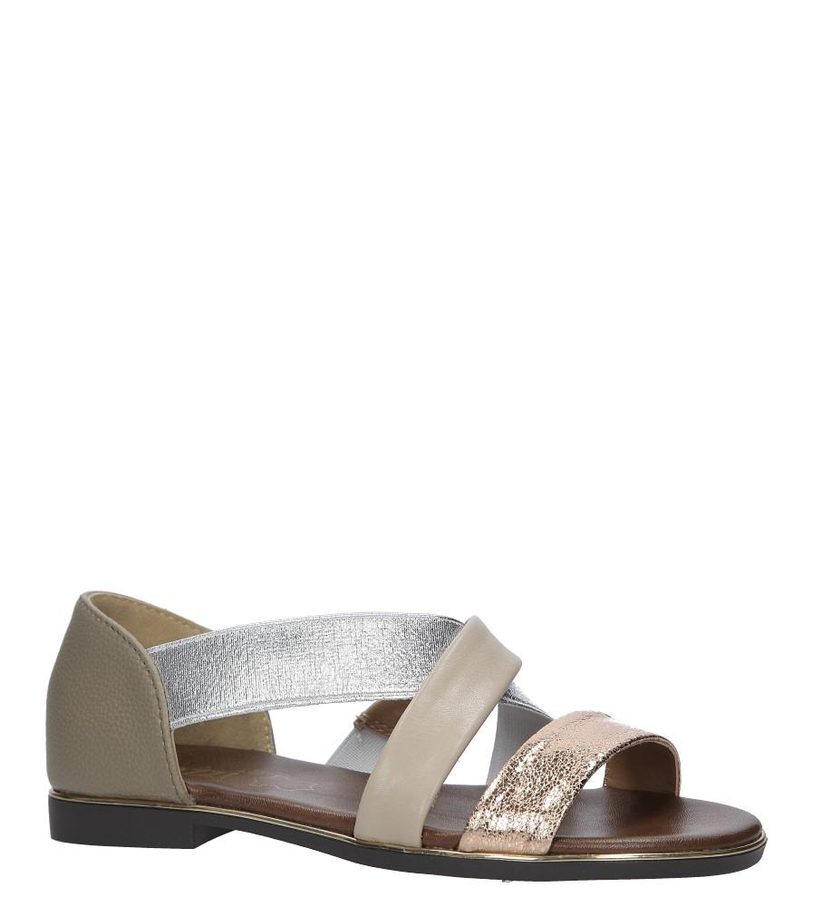 Złote sandały płaskie z zakrytą piętą Jezzi MR1741-2