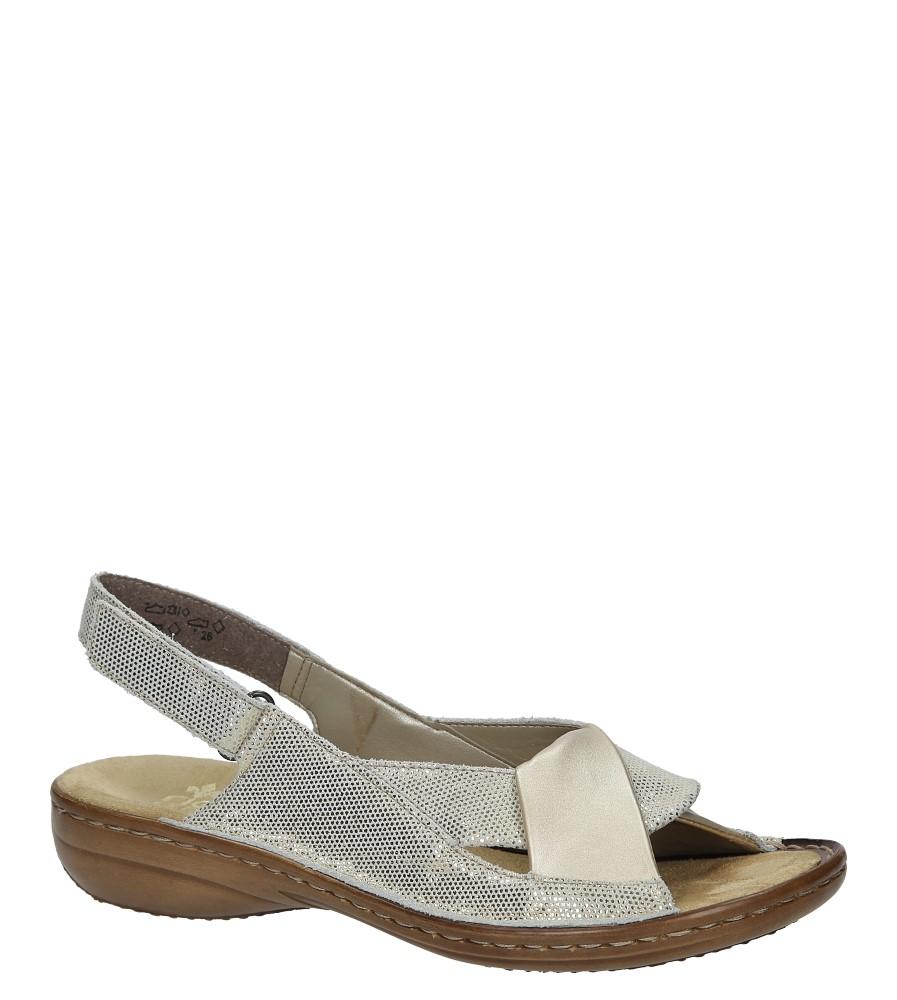 Złote sandały Rieker 60832-90