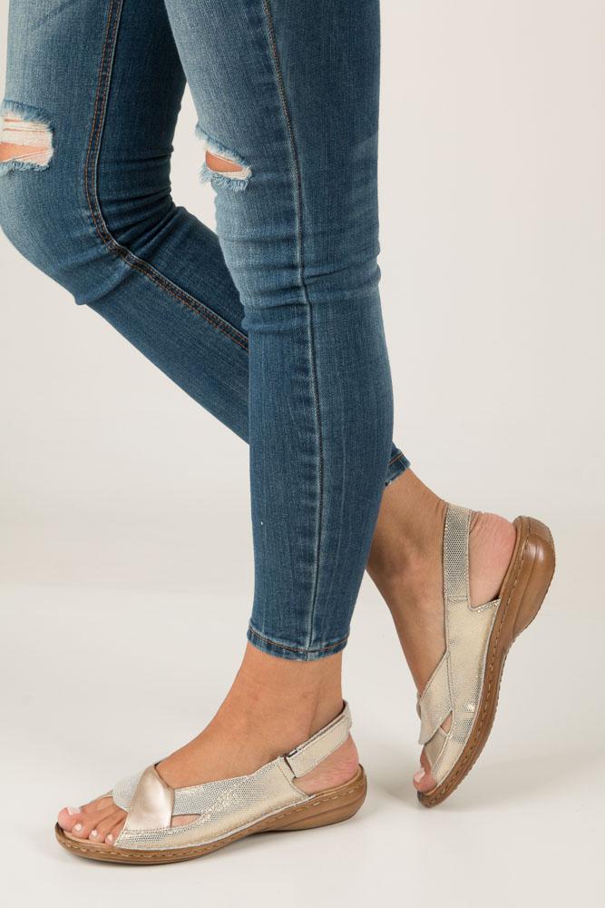 Złote sandały Rieker 60832-90 model 60832-90