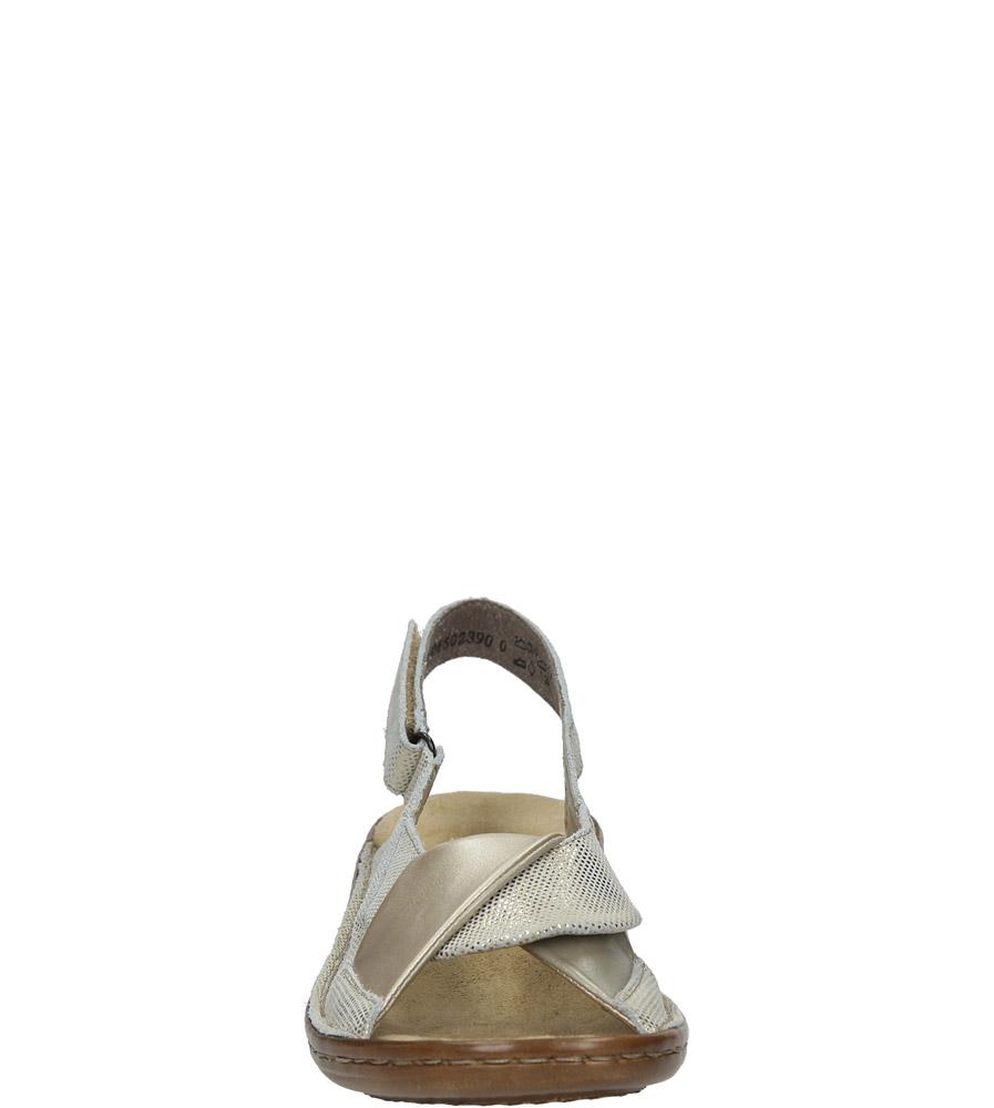 Złote sandały Rieker 60832-90 kolor złoty