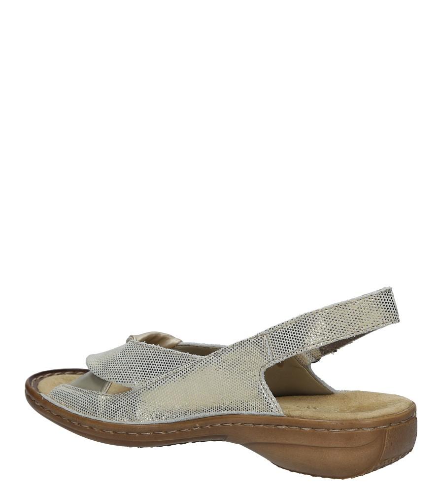 Złote sandały Rieker 60832-90 wysokosc_obcasa 4 cm