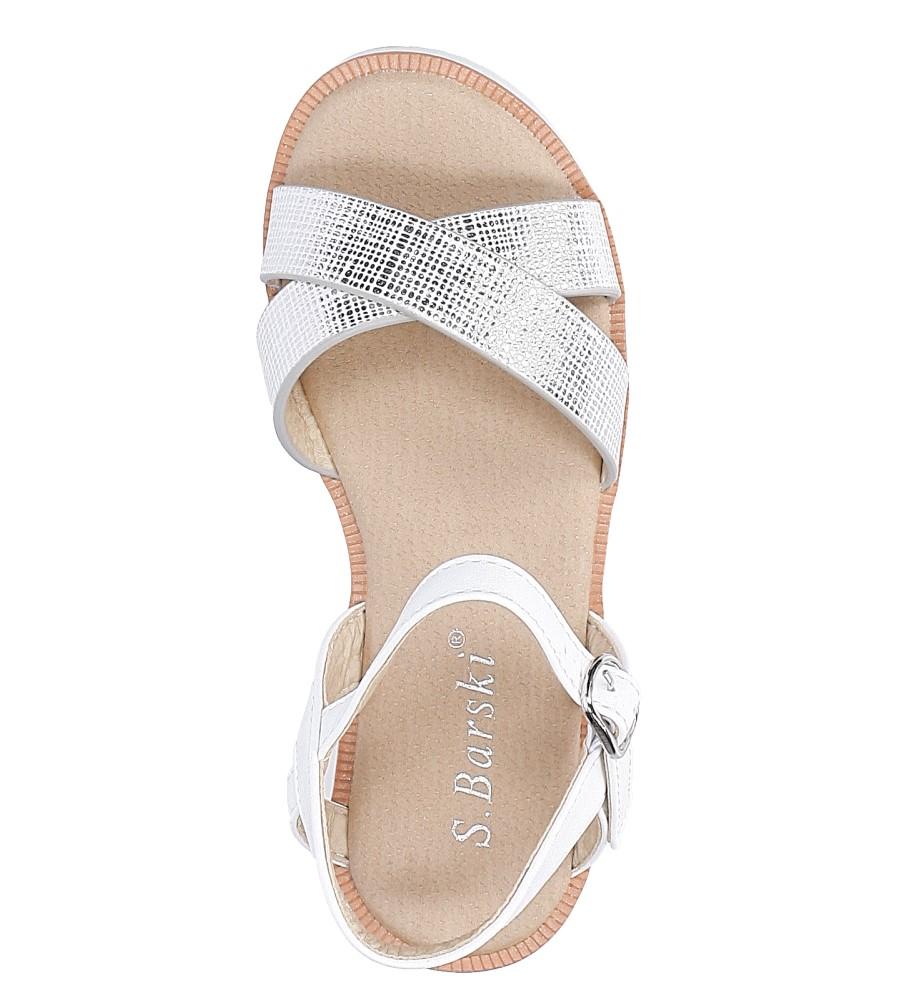 Złote sandały S.Barski 253-3 wysokosc_obcasa 2 cm