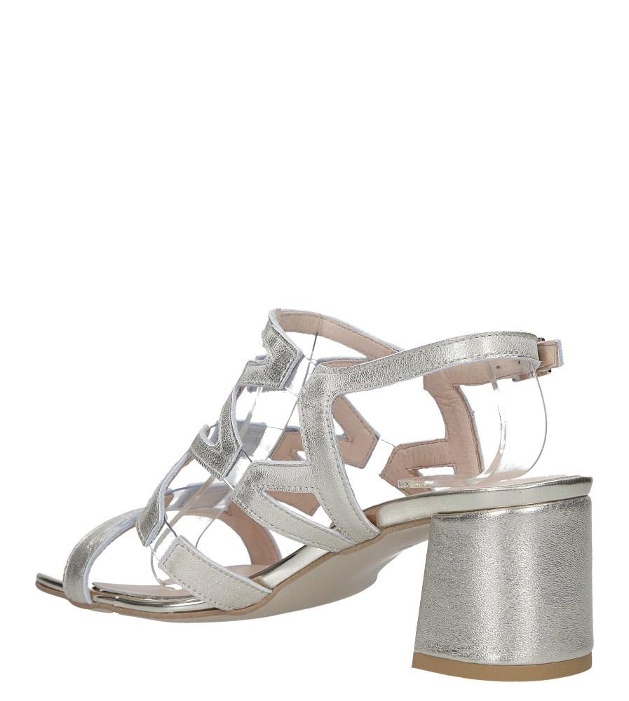 Złote sandały skórzane błyszczące na szerokim słupku Casu DS-196/A wys_calkowita_buta 14 cm