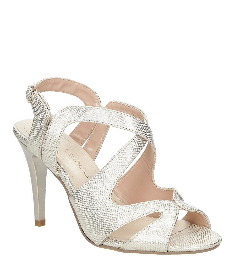 Złote sandały szpilki błyszczące Sergio Leone SK813-23S złoty