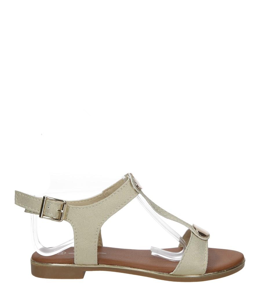 Złote sandały z metalową ozdobą Casu 5S-LE86217K
