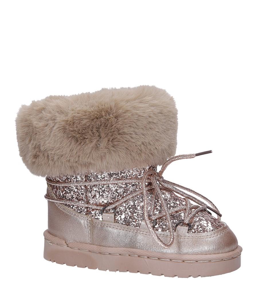 Złote śniegowce mukluki z brokatem emu Casu 20222-2H