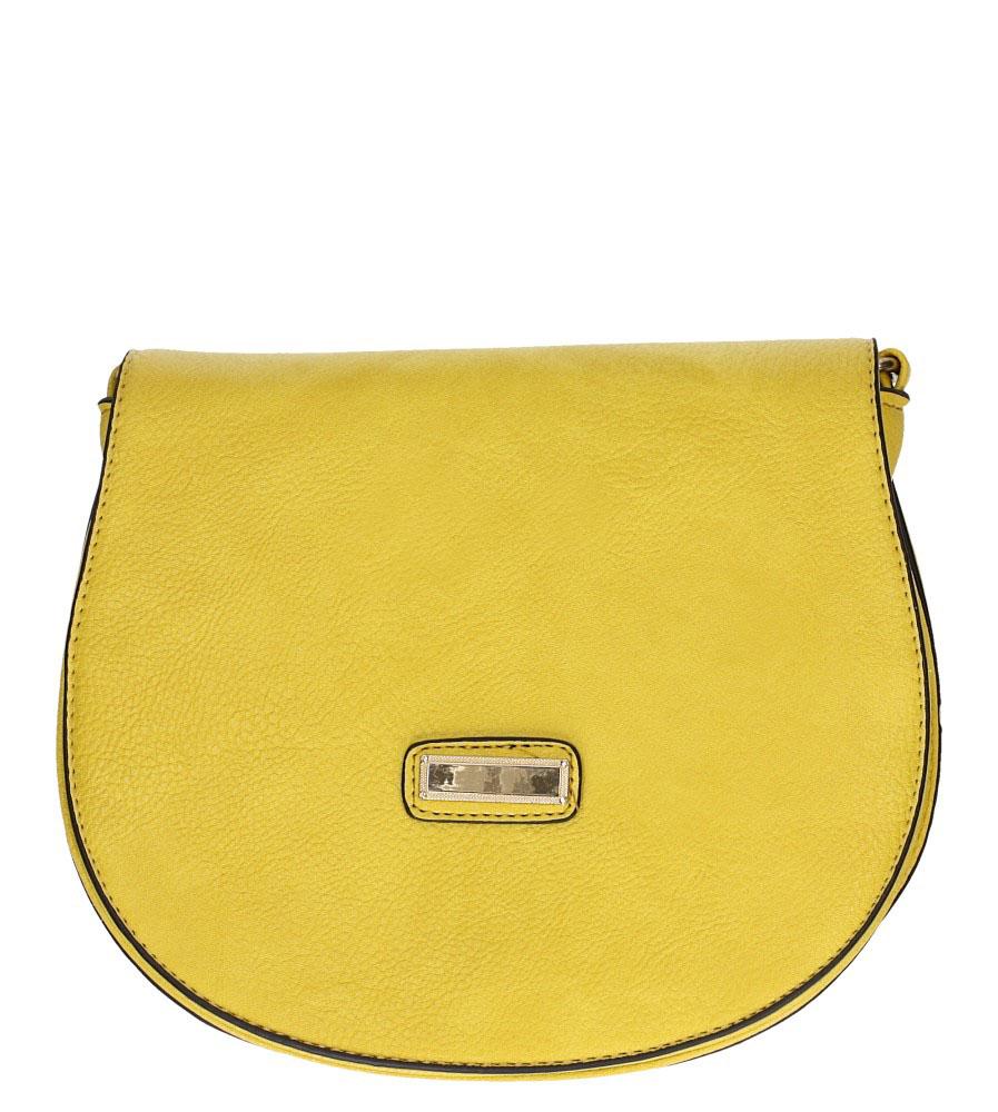 Żółta torebka mała z metalową ozdobą Casu AD-109