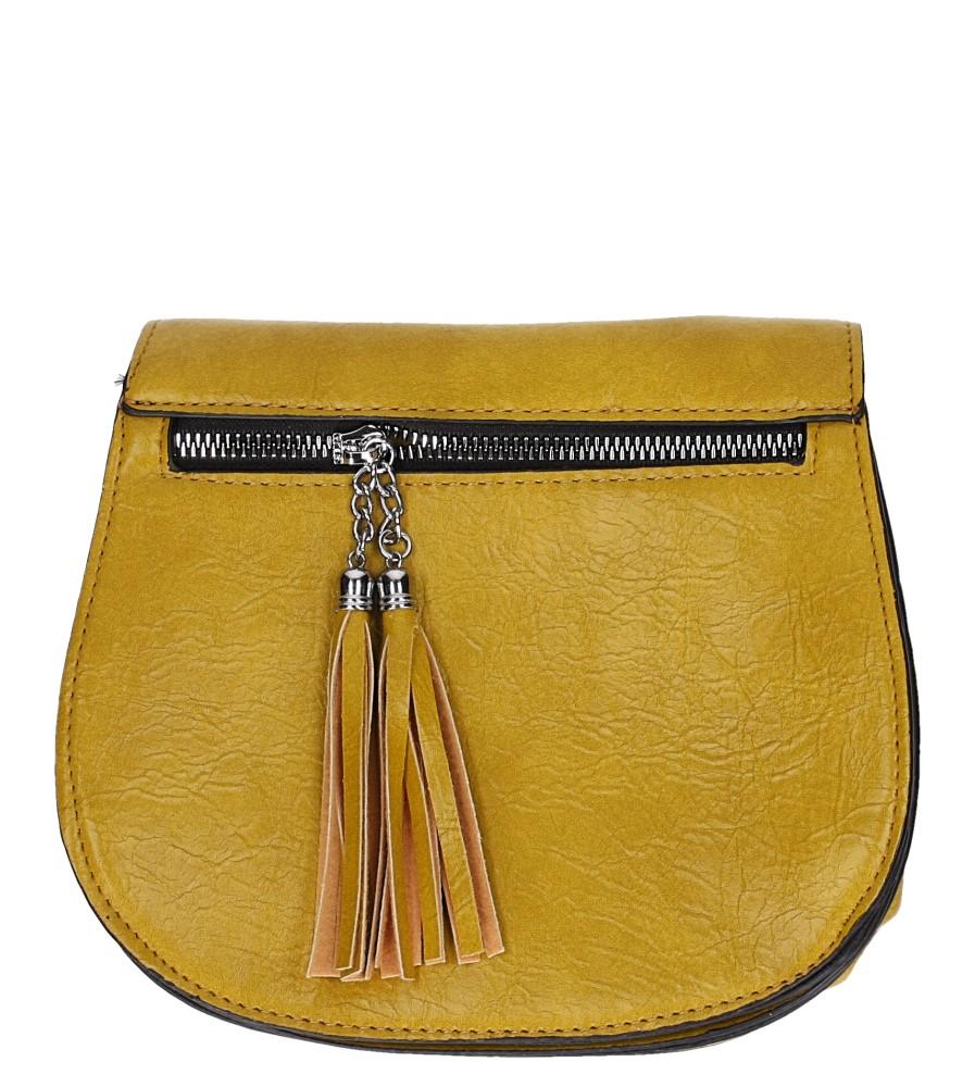 Żółta torebka mała z ozdobnym suwakiem Casu AD-107