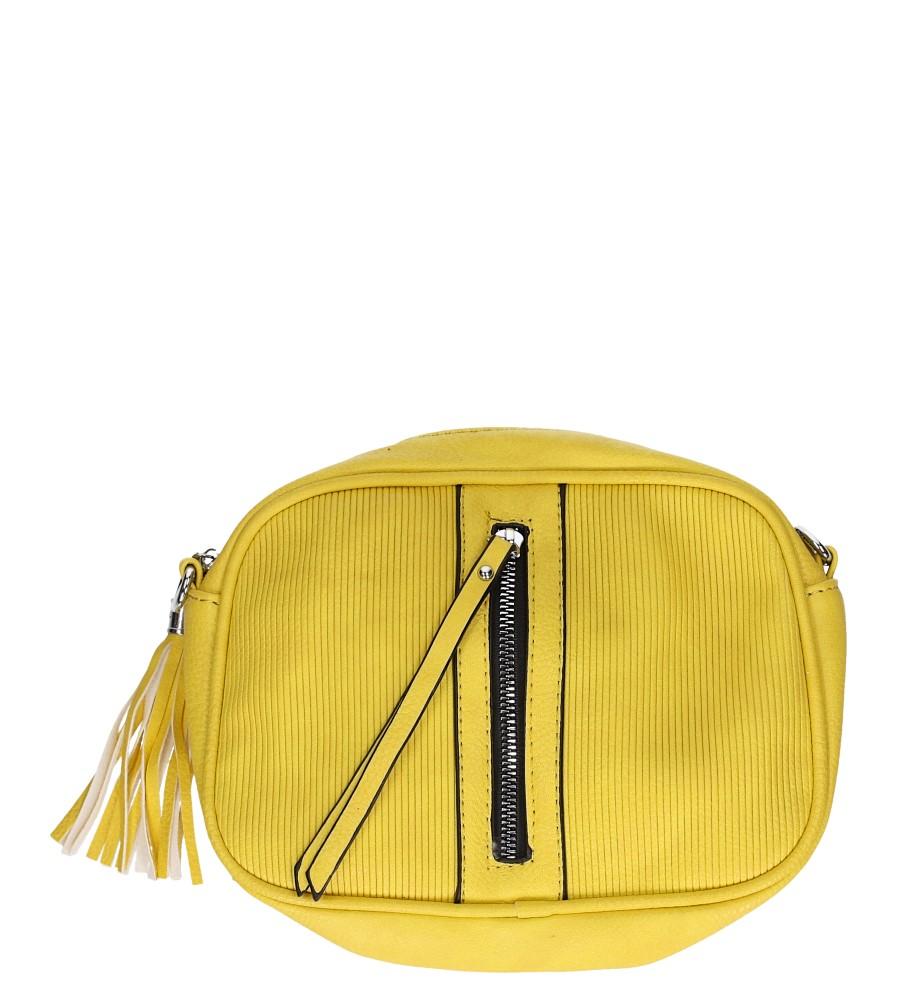Żółta torebka mała z ozdobnym suwakiem Casu AD-110