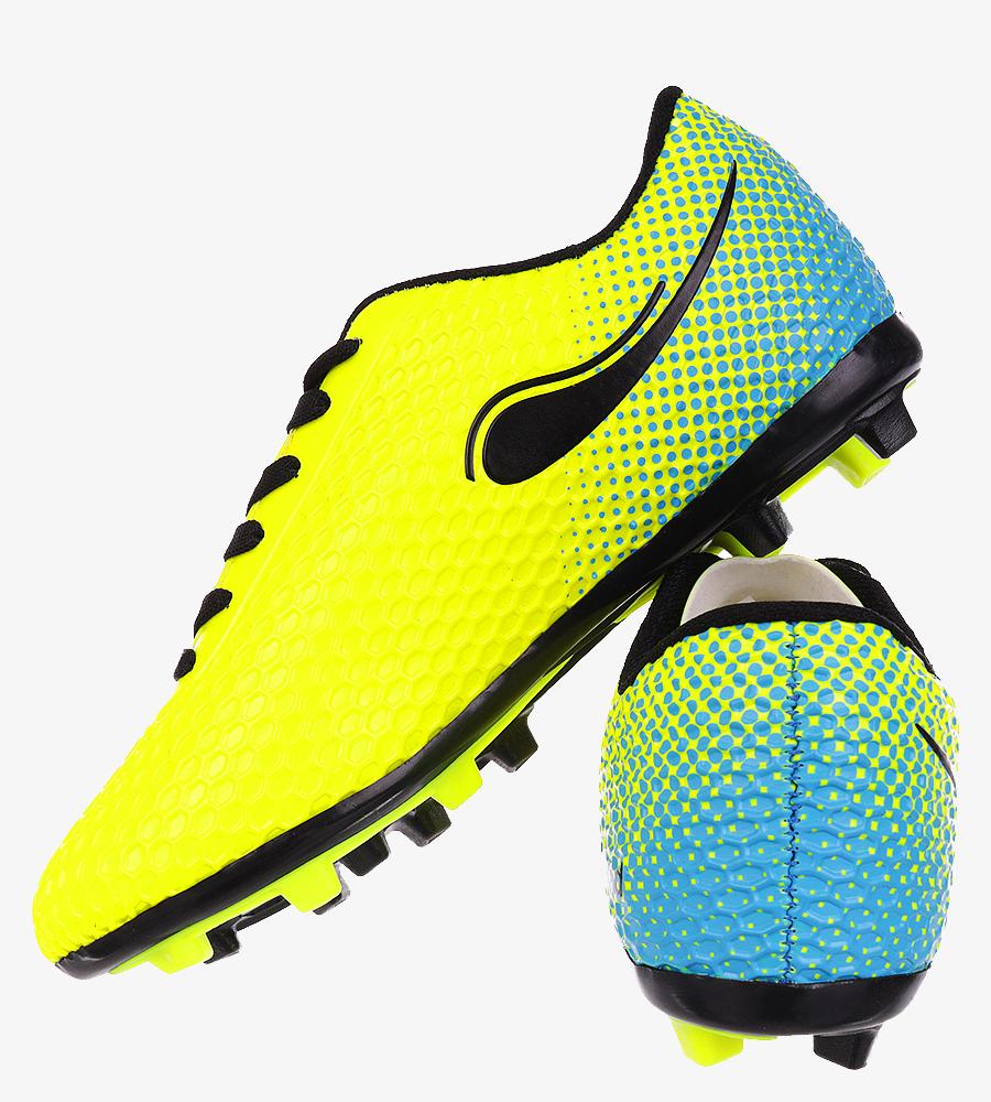 Żółte buty sportowe piłkarskie korki sznurowane Casu DH415-6 żółty