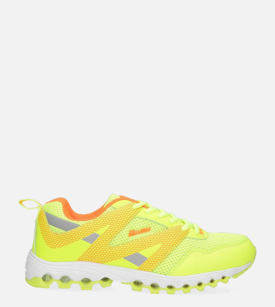 Żółte buty sportowe sznurowane Casu B2033-12 żółty
