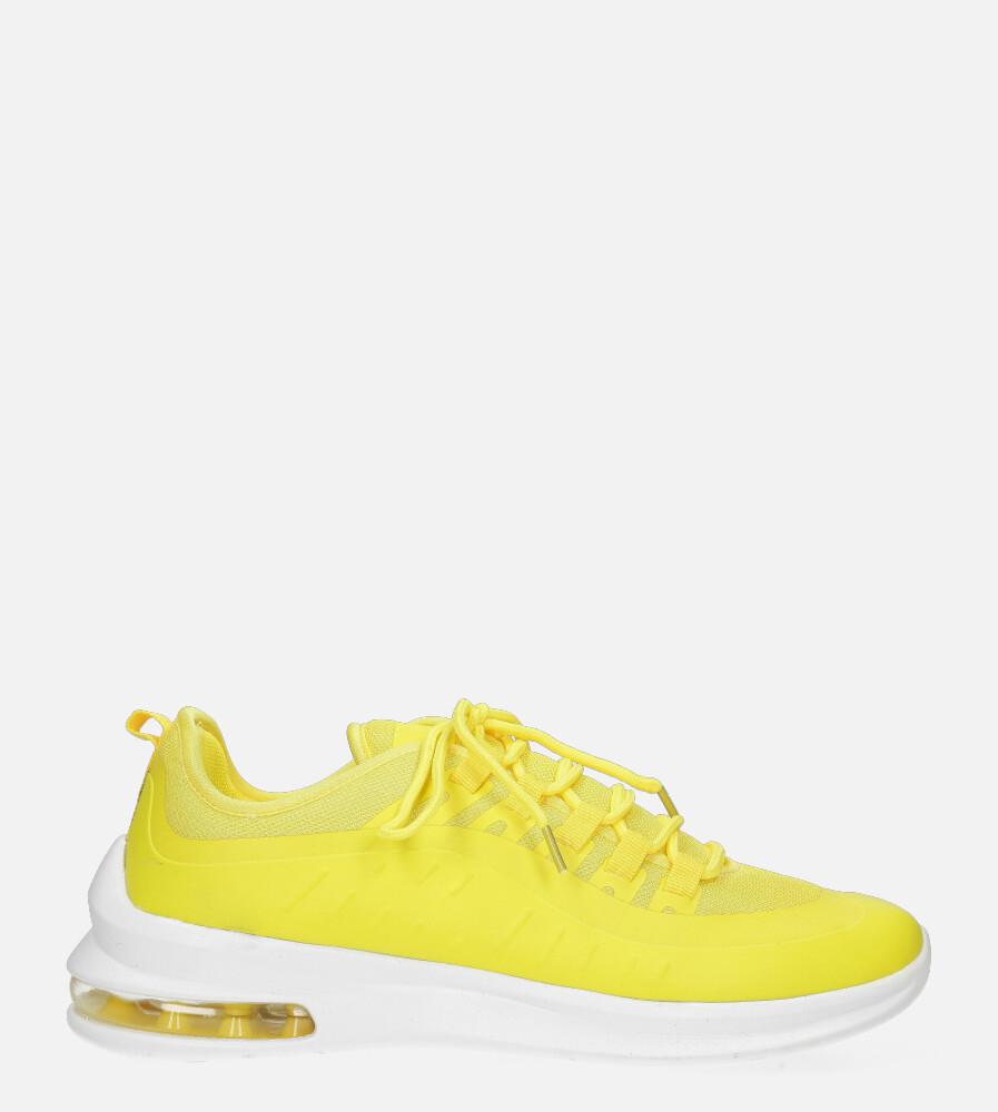 Żółte buty sportowe sznurowane Casu US8307-9 żółty