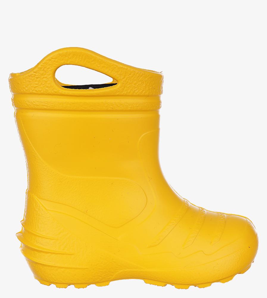 Żółte kalosze ocieplane Raweks EVA żółty