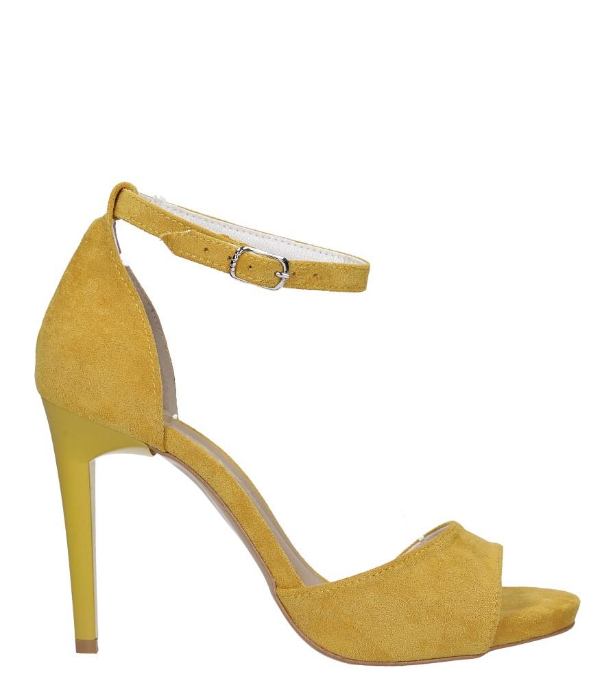 Żółte sandały szpilki z zakrytą piętą i paskiem wokół kostki Casu 1590/1 wysokosc_platformy 1.5 cm