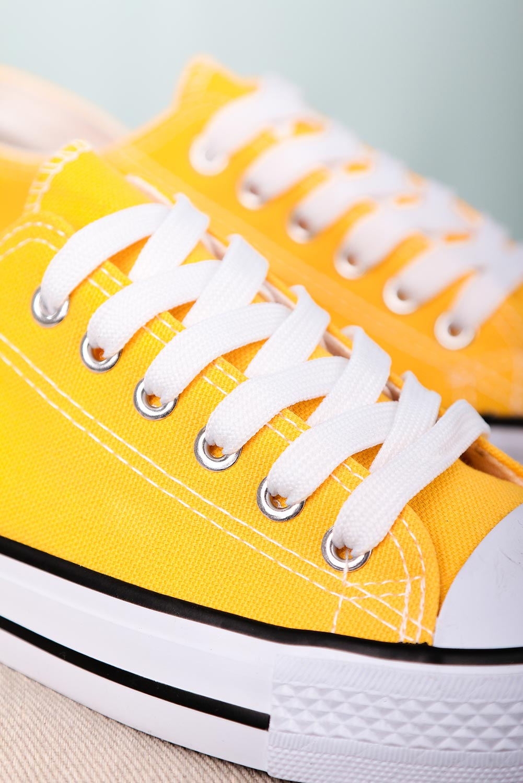 Żółte trampki sznurowane Casu 888-1