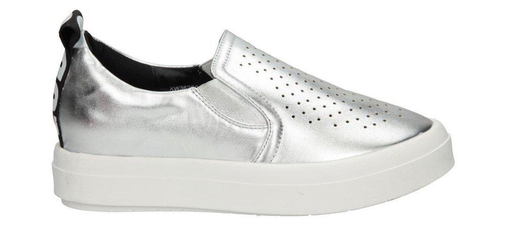 trampki sneakersy srebro sklep Casu