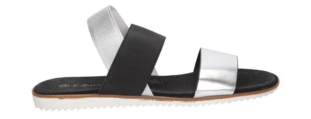 klapki sandały srebro sklep Casu