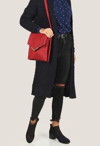 Czerwone dodatki na jesień 2017 - torebka, a może buty?