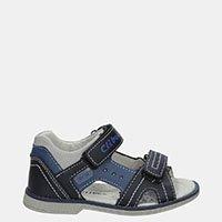 Chłopięce Granatowe Sandały Na Rzepy Casu Z-285