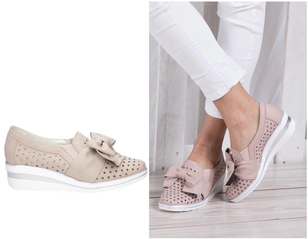 damskie buty wsuwane na koturnie ażurowe sklep Casu.pl