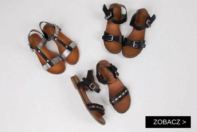 tanie płaskie sandały damskie sklep internetowy Casu