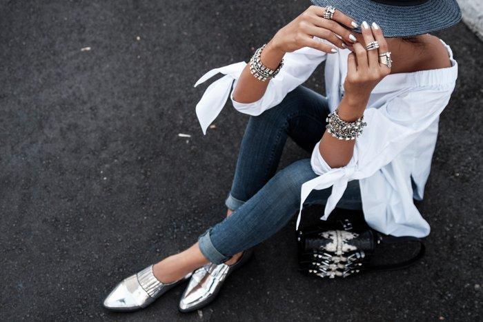 srebrny look sklep Casu